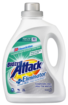 Biozet Attack 3D Clean Action Laundry Liquid PLUS Eliminator