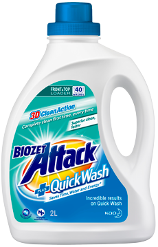 Biozet Attack PLUS Quick Wash Liquid 2L