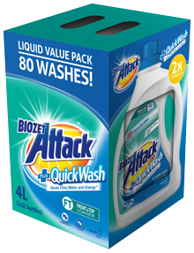 Biozet Attack PLUS Quick Wash Value Pack